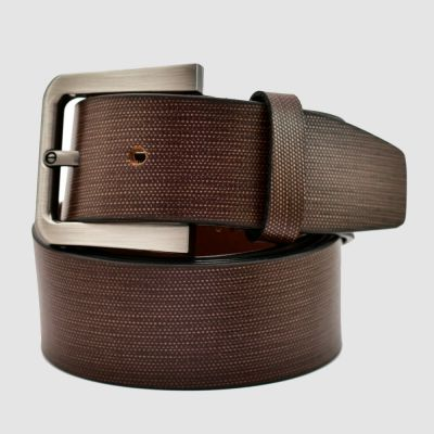 Mens Brown Genuine Leather Belt With Gift Box