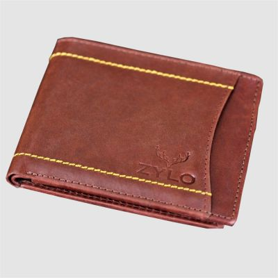 Burgundy Bifold RFID Leather Slim Card Holder Wallet With Gift Box