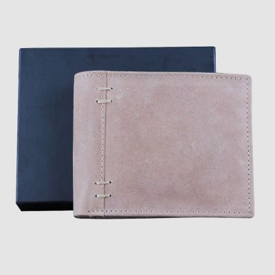 Tan Real Genuine Bifold Leather Slim Wallet With Gift Box