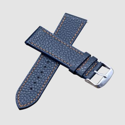 Blue Wrist Band Leather Watch Straps