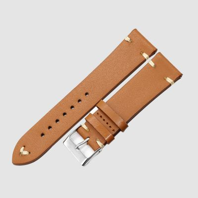 Brown Handmade Watch Strap Genuine Leather Wrist Band