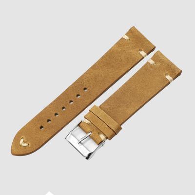 TAN Handmade Watch Strap Genuine Leather Wrist Band