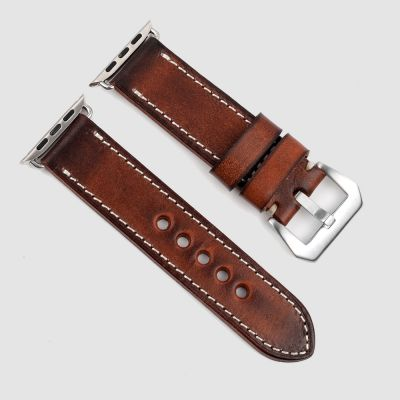 Brown Handmade Vintage Leather Apple Watch Straps