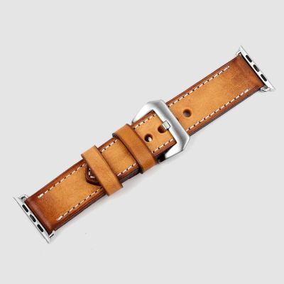 TAN Handmade Vintage Leather Apple Watch Straps